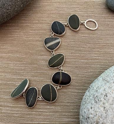 Stones of Lore #1 :: Striped Beach Stone Bracelet