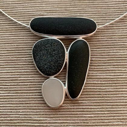Four Lovelies :: 4 Beach Stone Cluster Pendant