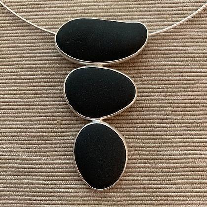 Balancing Act :: 3 Beach Stone Cluster Pendant, Medium