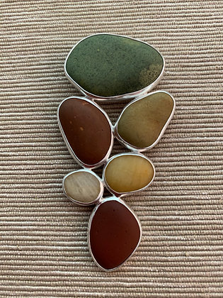 Beyond the Green :: 6 Beach Stone Cluster Pendant