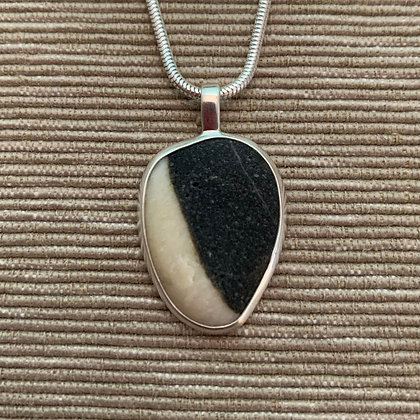 It's Black & White :: Medium Stone Pendant