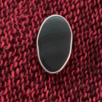 A Subtle Black Beauty :: Shawl/Sweater Pin