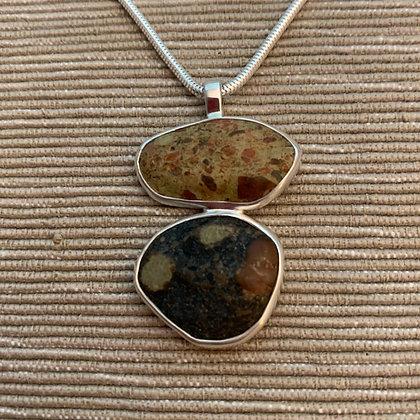 Companions :: Medium Double Stone Pendant