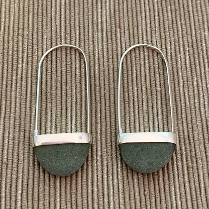 Stone Basket Earrings :: 2.0 XL Light Green #4
