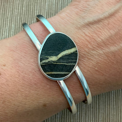 Watching for Lightning :: 3 Beach Stone Reversible Cuff