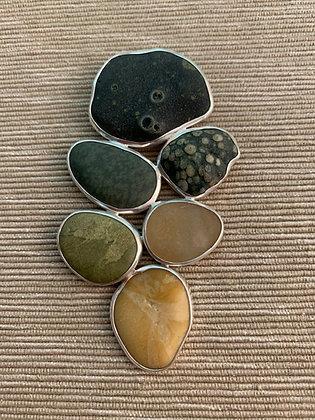 Shifting Focus :: 6 Beach Stone Cluster Pendant