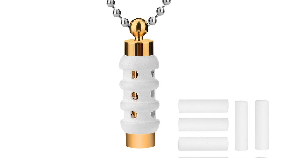 Wooden Cylinder Diffuser Locket - LE Essentials Pairs