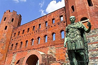 Porta Palatina and Giulio Cesare