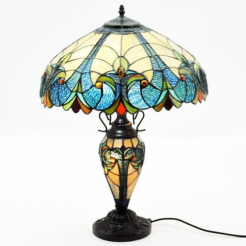 "18"" SHADEMULTI COLOUR DOUBLE TIFFANY LAMP"