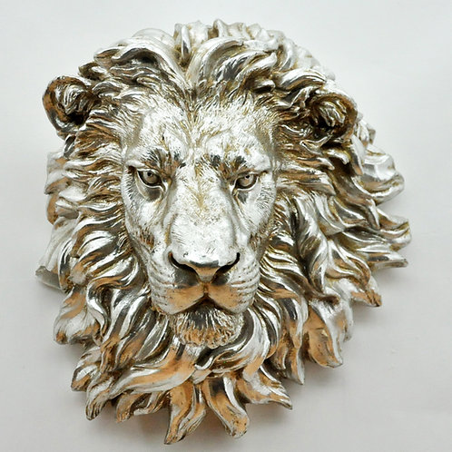 46CM BRONZE LION HEAD