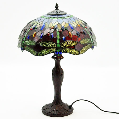 "16"" SHADE RED DRAGONFLY TIFFANY LAMP"