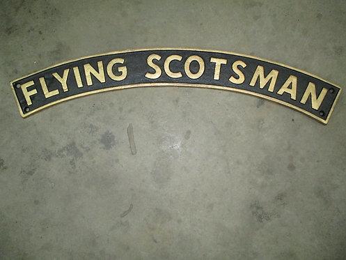90X20CM BLACK/GOLD FLYING SCOTSMAN SIGN