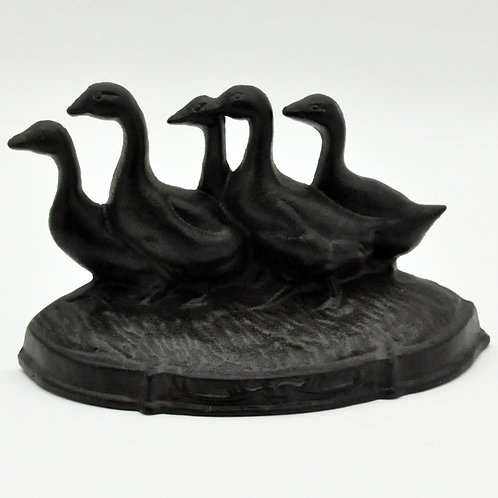 33CM CAST IRON DUCKS DOORSTOP