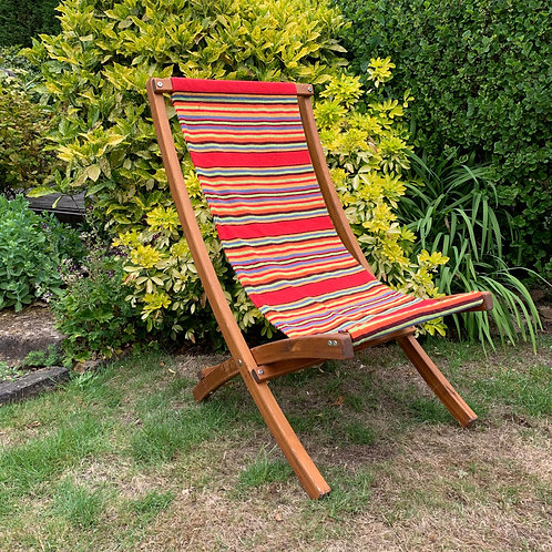 DECK CHAIR RED STRIPE