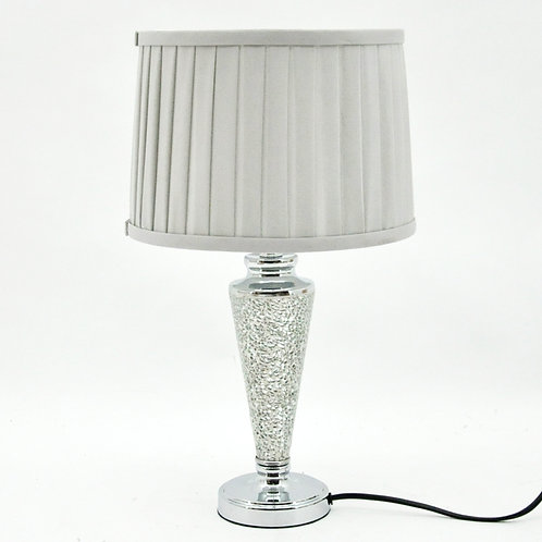 43x25x25CM CRACKLE GLASS LAMP AND SHADE
