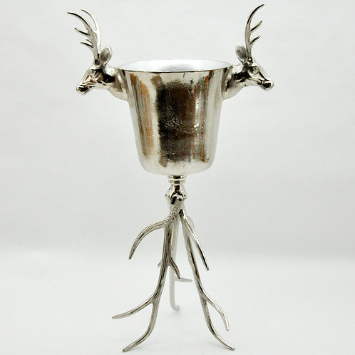 44CM REINDEER CHAMPAGNE BUCKET ON STAND
