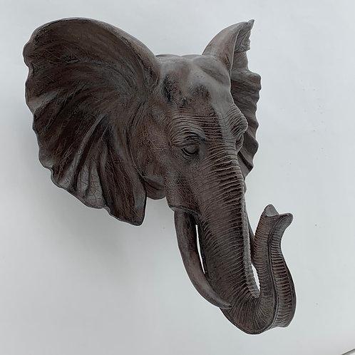 55CM BRONZE ELEPHANT HEAD