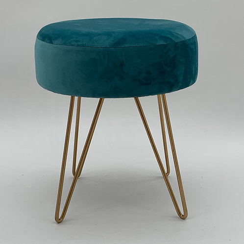 BLUE WOODEN STOOL