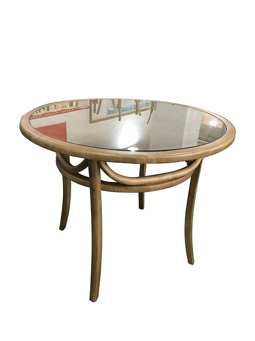 NATURAL ROUND WOODEN TABLE