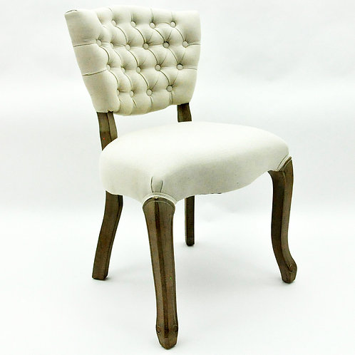 NATURAL FR LINEN LOUIS CHAIR