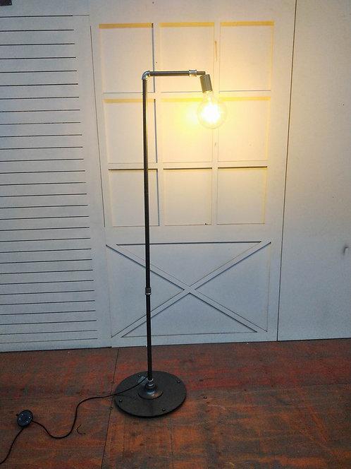 149CM METAL BLACK/SILVER FLOOR LAMP