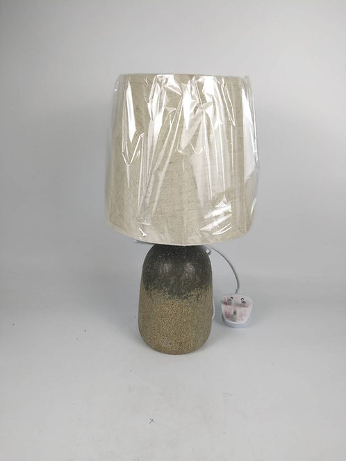 37CM RUSTIC LAMP AND SHADE