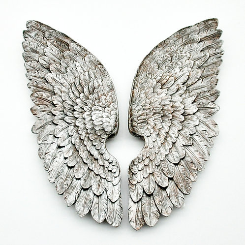 70CM ANTIQUE SILVER LEFT / RIGHT WINGS