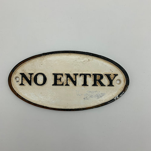 18x9CM NO ENTRY SIGN