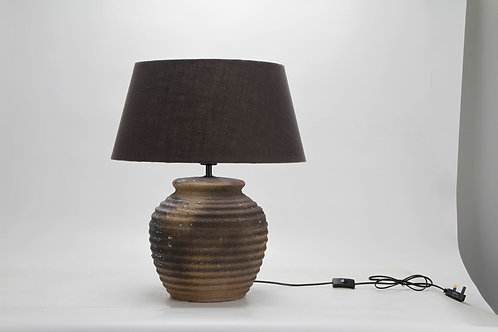58CM RUSTIC LAMP AND SHADE