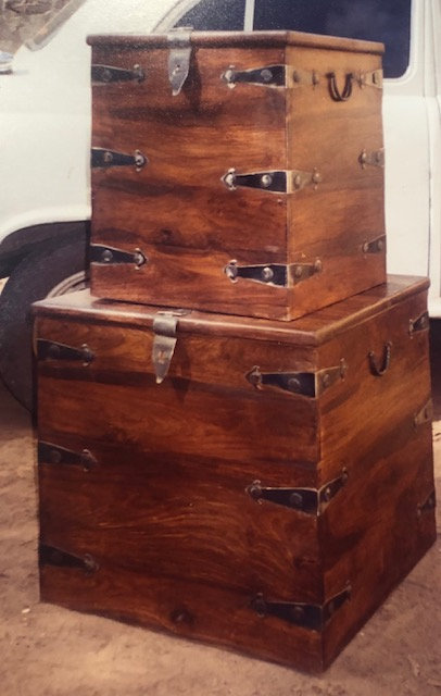 Sq. Chest with Iron Fittings