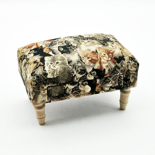 CAT FOOTSTOOL WITH DRAWER