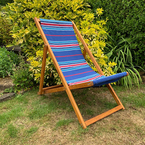 DECK CHAIR BLUE AND RED STRIPE