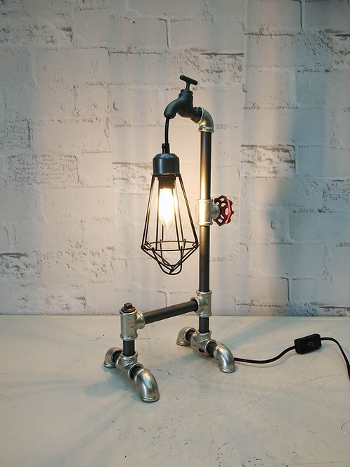 51CM METAL INDUSTRIAL PIPPING TABLE LAMP