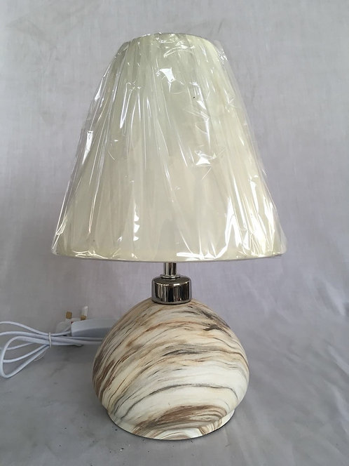 34CM MARBLE STYLE LAMP AND SHADE
