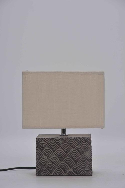 27CM OBLONG CEMENT LAMP
