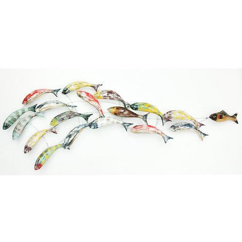 WALL ART WOODEN FISH