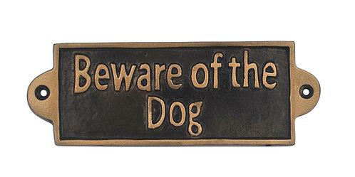 BEWARE OF THE DOG - METAL SIGN