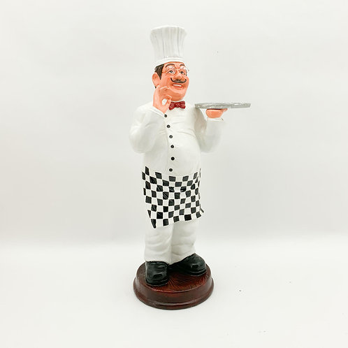 106CM RESIN CHEF WITH TRAY
