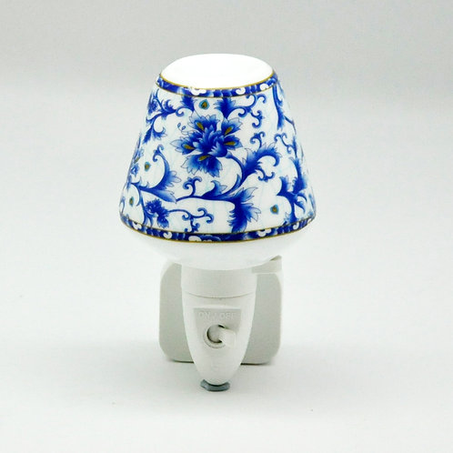 BLUE FLORAL NIGHTLIGHT
