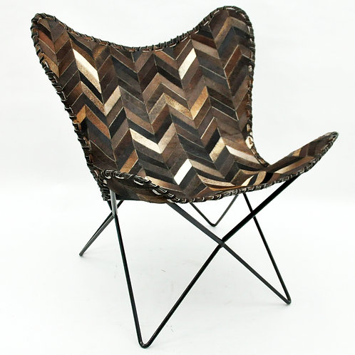 BROWN CHEVERON BUTTERFLY CHAIR
