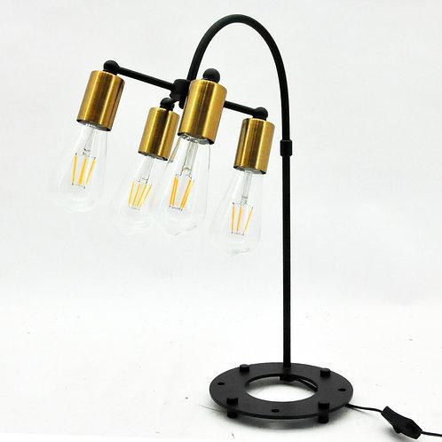53CM METAL 4 BULB TABLE LAMP