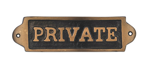 PRIVATE - METAL SIGN