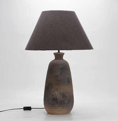 74CM RUSTIC LAMP AND SHADE