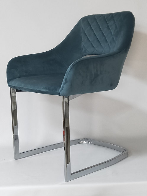 77CM VELVET DINING CHAIR