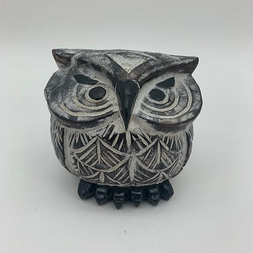11CM WOODEN OWL