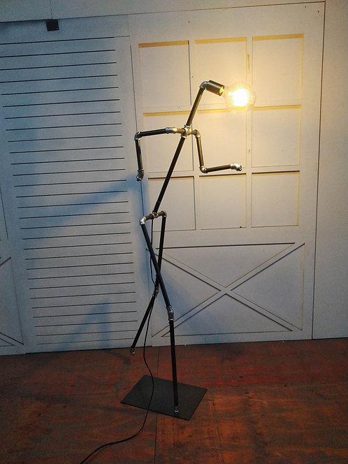 150CM METAL BLACK/SILVER FLOOR LAMP