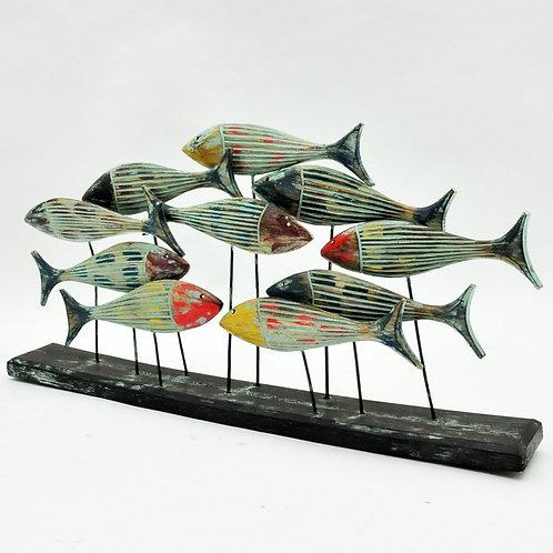 WOODEN FISH 35x69x10cm