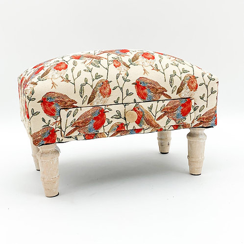 ROBIN FABRIC FOOTSTOOL WITH DRAWER