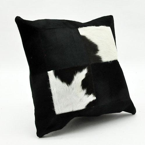45X45CM BLACK AND WHITE COW-HIDE CUSHION