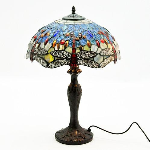 """16"""" SHADE BLUE DRAGONFLY TIFFANY LAMP"""